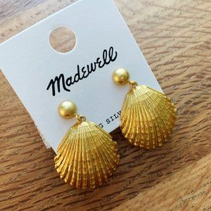 NEW Madewell Shell Drop Earrings
